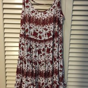Brandy Melville red rose dress
